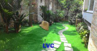 Cỏ nhân tạo sân vườn, Sân vườn, Thi công cỏ nhân tạo, LeHa Vina, Bán cỏ nhân tạo sân vườn