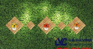 Cỏ nhân tạo ốp tường, Thi công cỏ nhân tạo ốp tường, Cỏ nhân tạo, Mua cỏ nhân tạo ốp tường, Công ty Lê Hà Vina