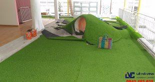 Thi công sân cỏ nhân tạo, Cỏ LH20AT, Công ty Lê Hà Vina, Sân vườn cỏ nhân tạo, Cỏ nhân tạo