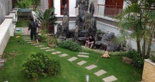 Thi công cỏ nhân tạo sân vườn, Cỏ nhân tạo sân vườn, Thảm cỏ, Cung cấp cỏ nhân tạo, Ốp tường trang trí nội thất