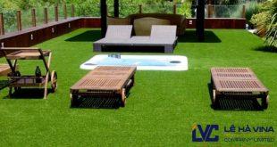 Thi công cỏ nhân tạo sân vườn, Cỏ nhân tạo sân vườn LH70AT, Công ty Lê Hà Vina, Cung cấp cỏ nhân tạo, Cỏ nhân tạo