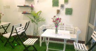 Cỏ nhân tạo, Cỏ nhân tạo để trang trí quán cà phê, Trang trí bằng cỏ nhân tạo, Lê Hà Vina, Cỏ nhân tạo để trang trí