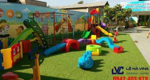 Cỏ nhân tạo, Thi công cỏ nhân tạo, Thiết kế thi công cỏ nhân tạo, Công ty Lê Hà Vina, Cỏ nhân tạo để làm sân chơi, Lê Hà Vina