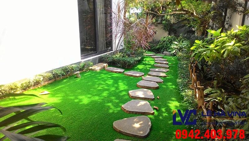Cỏ nhân tạo sân vườn LH71AT, Lê Hà Vina, Cỏ nhân tạo, Lắp đặt sân cỏ nhân tạo, Sân vườn cỏ nhân tạo