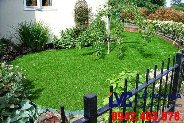 cỏ nhân tạo sân vườn lh70at, Lê Hà Vina, Thi công thảm cỏ nhân tạo, Công ty Khang Trí, Lắp đặt cỏ nhân tạo