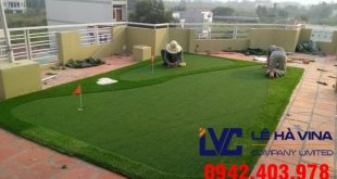 Sân golf cỏ nhân tạo, Lê Hà Vina, Cỏ nhân tạo, Cỏ nhân tạo sân golf LH50AT, Lắp đặt sân golf cỏ nhân tạo