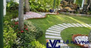 Cỏ nhân tạo sân vườn, Cỏ nhân tạo sân vườn LH25AT, Lê Hà Vina, Cỏ nhân tạo, Quy trình lắp đặt cỏ nhân tạo