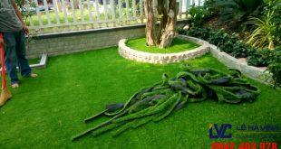 Cỏ trang trí sân vườn, Cỏ nhân tạo, Cỏ nhân tạo LH71AT, Công ty Lê Hà Vina, Cỏ trang trí nhân tạo