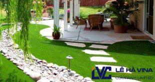 Thảm cỏ giả trang trí sân vườn, Thảm cỏ giả trang trí, Cỏ giả trang trí, Lê Hà Vina, Cỏ nhân tạo